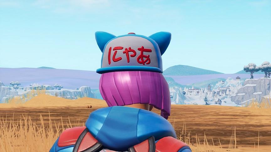 バトルパスの猫耳スキンの帽子に「にゃあ」って書いててワロタ