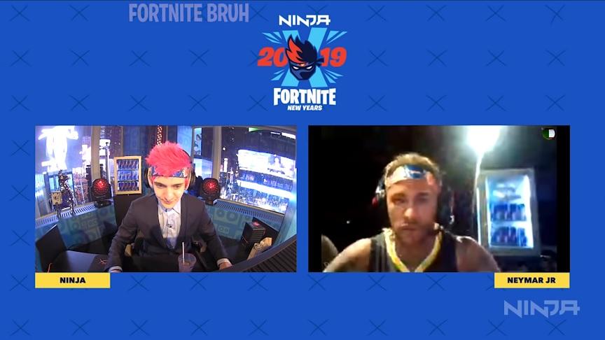 Ninjaの年越しイベントにネイマールが登場!