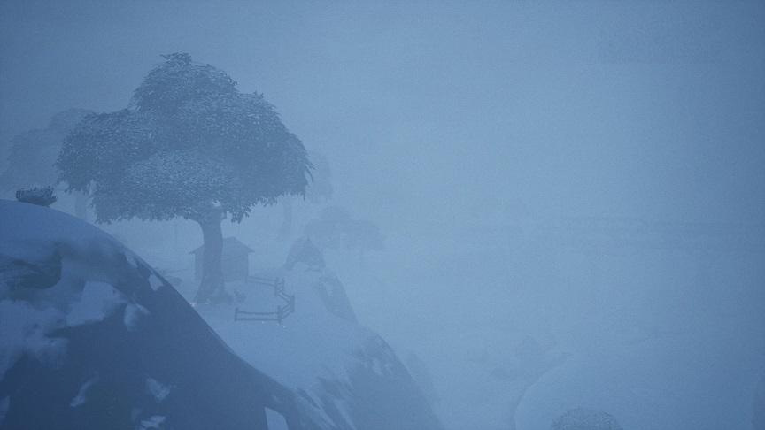 吹雪で周りが全然見えん