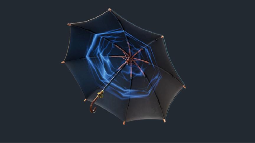 ライトセイバーみたいな傘がきとるww